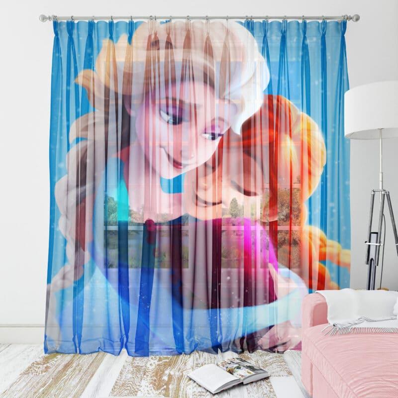 Perdele fetite Frozen si Elsa